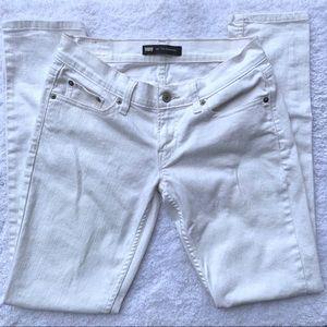 Levi's White 524 Superlow Jeans